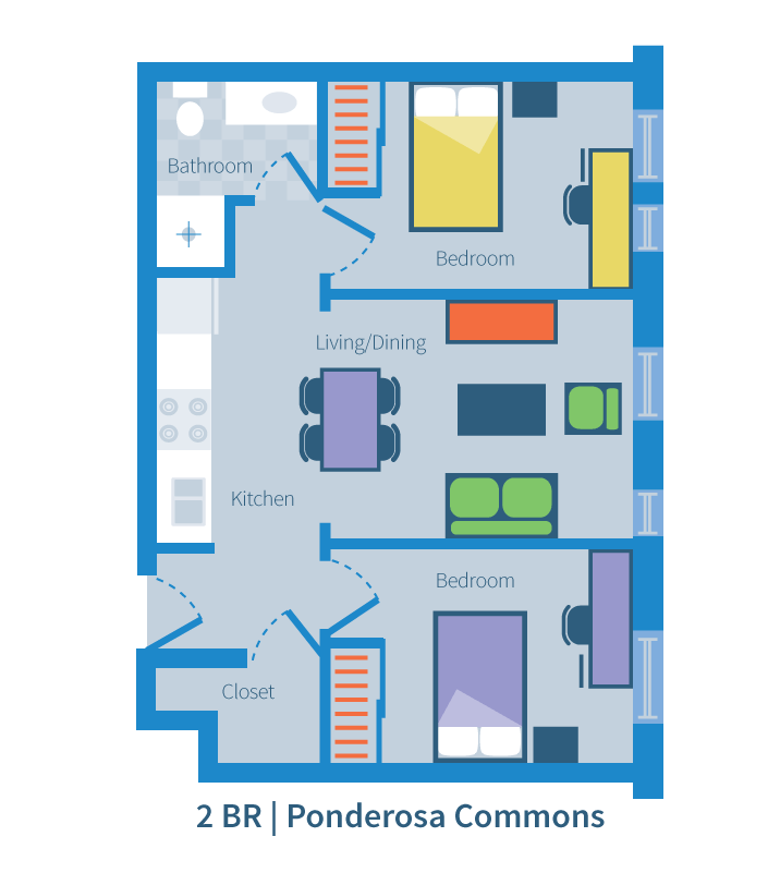 Two bedroom, Ponderosa Commons