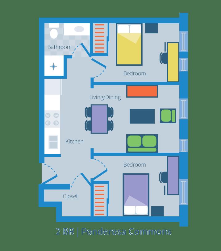 Two bedroom, Ponderosa Commons