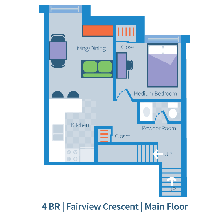 Four bedroom, Fairview Crescent, main floor