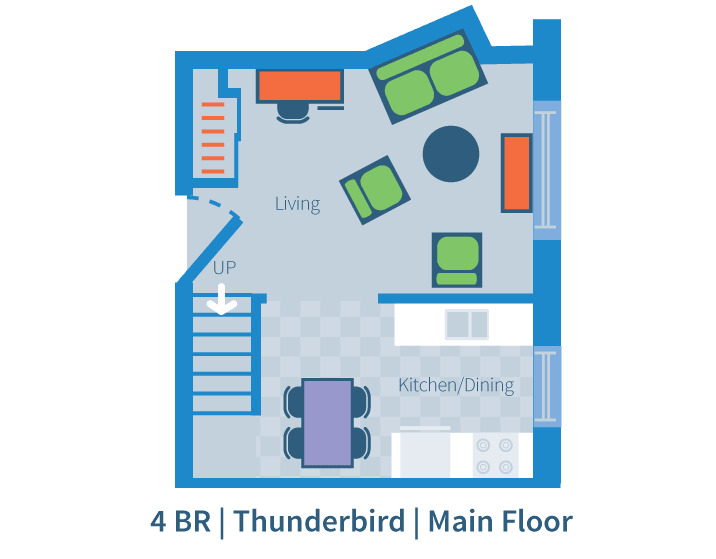 Four bedroom, Thunderbird, main floor