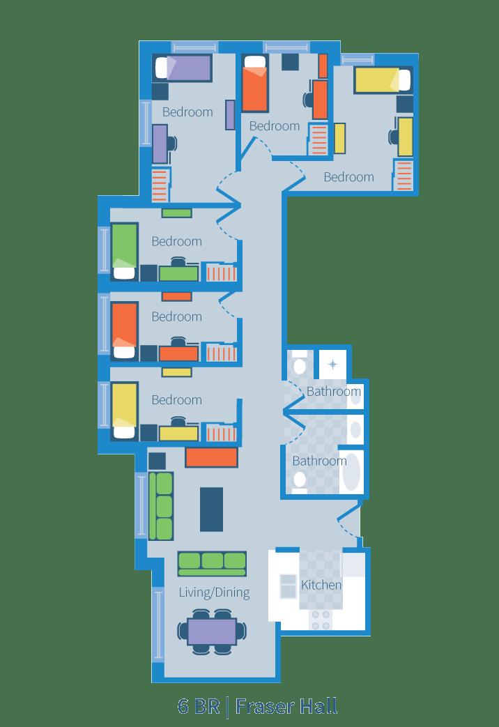 Six bedroom, Fraser Hall