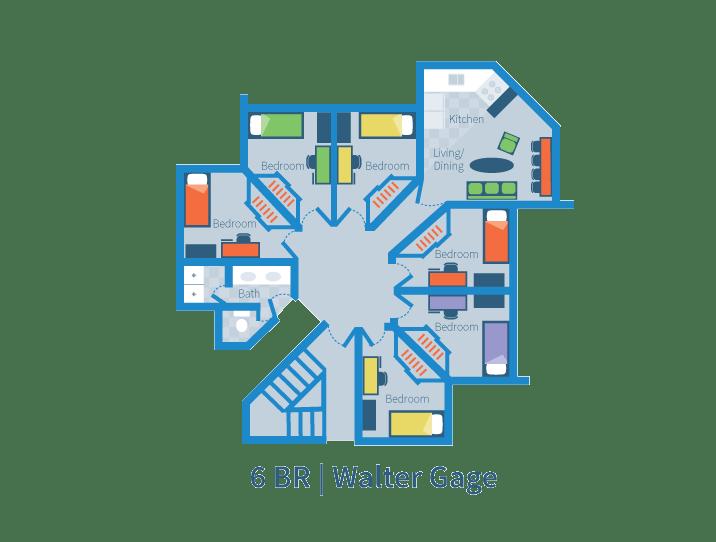 Six Bedroom Suite