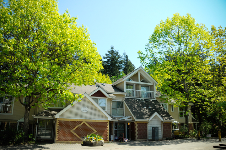 Townhouses at Acadia Park residence, UBC.