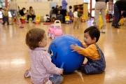 Children play at the Acadia Park Parents 'n Tots program, UBC.