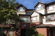 Shaded exterior view of Fairview Crescent, UBC.