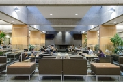 UBC Walter Gage Fireside Lounge is a popular place to study and socialize.