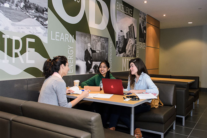 UBC students gather for a study session in the Walter Gage Commonsblock.