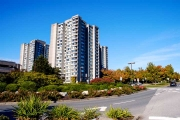 Exterior view of Walter Gage Towers, UBC.