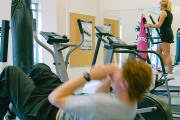 UBC Thunderbird residents take advantage of the on-site fitness facilities.
