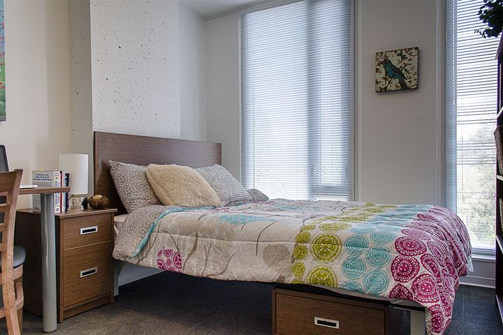 Bedroom at Ponderosa Commons, UBC.