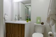 Modern bathroom space at Ponderosa Commons, UBC.