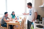 Kitchen at UBC Marine Drive residence.