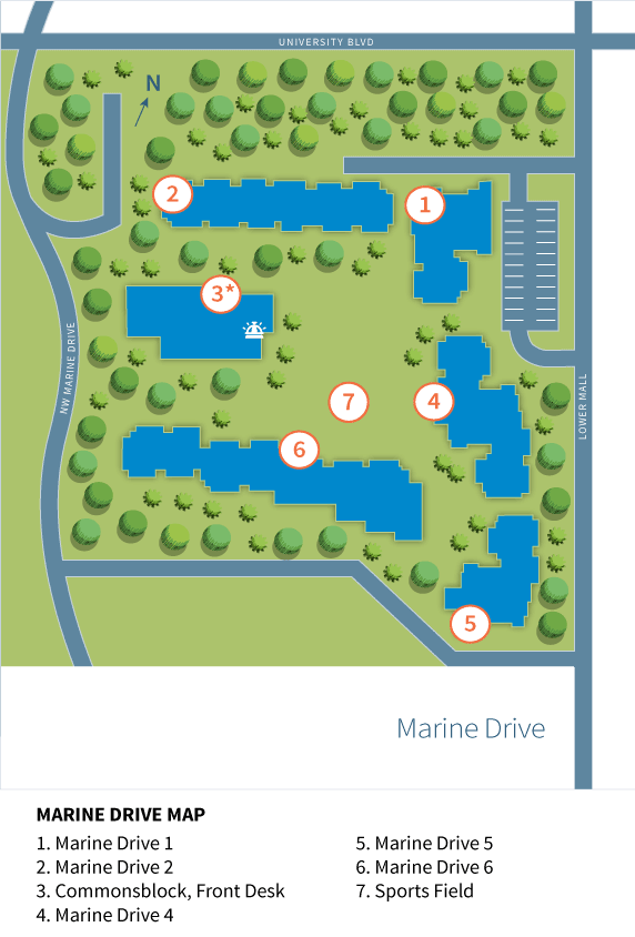 Map of Marine Drive Residence