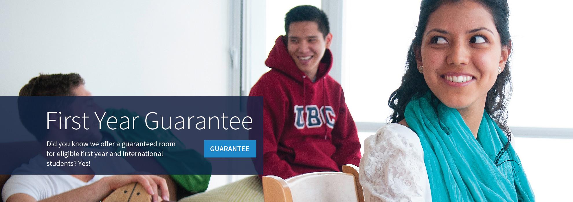 UBC residence first year housing guarantee