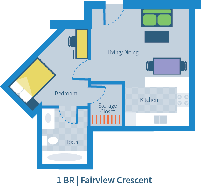 UBC Fairview Crescent 1 bedroom suite