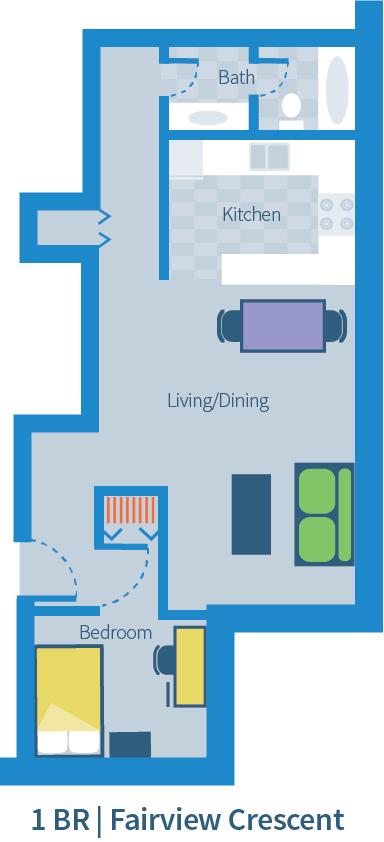 UBC Fairview Crescent 1 bedroom suite