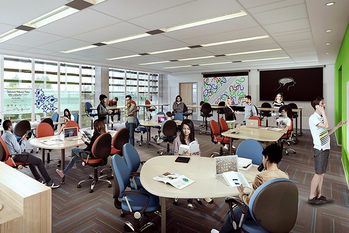 Study room at Orchard Commons