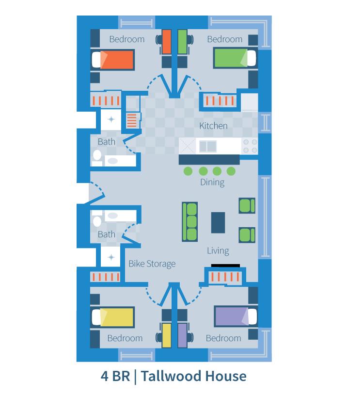 Ponderosa Apartments: Four Bedroom Suite
