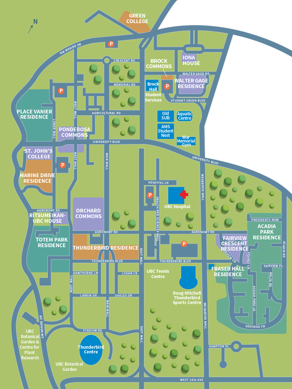 Residence Map, UBC Vancouver Campus