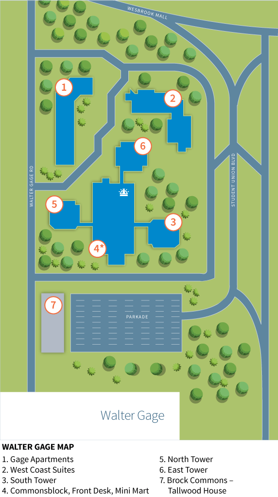 Walter Gage Residence Map