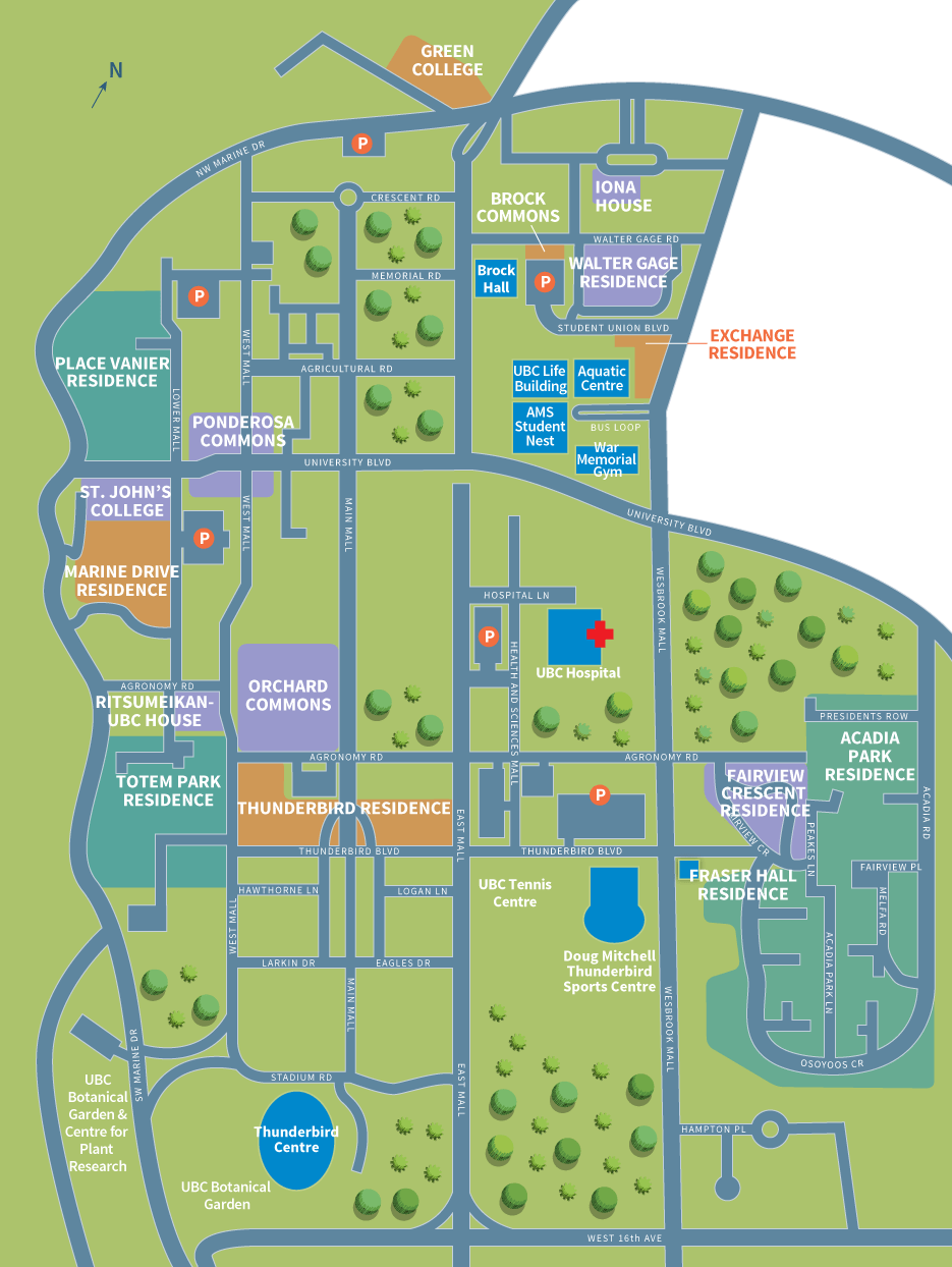 Map Of Ubc Residence Map