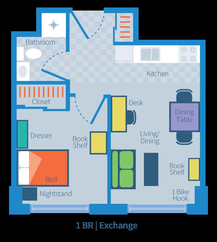 1 Bedroom | Exchange