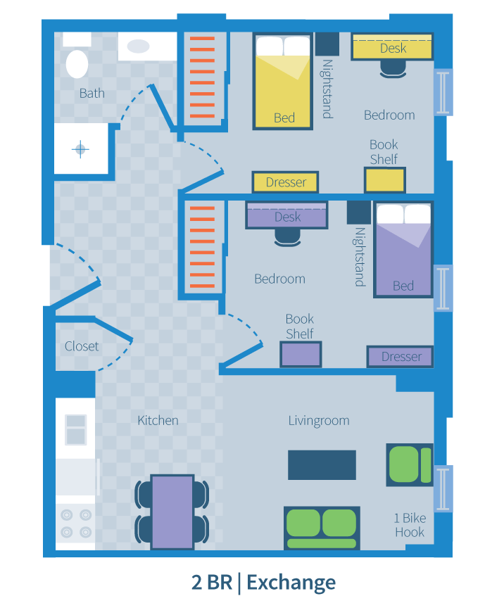 2 Bedroom | Exchange
