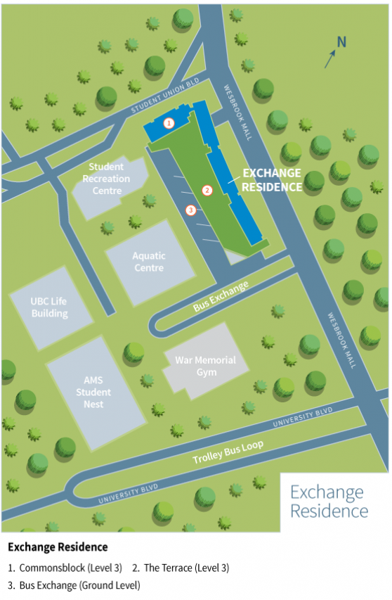 Exchange Residence Map