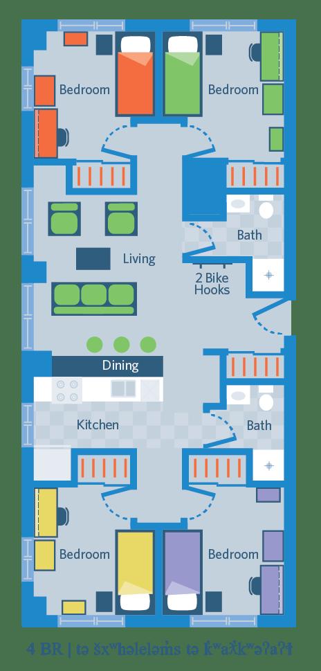 4 Bedroom   tə šxʷhəleləm̓s tə k̓ʷaƛ̓kʷəʔaʔɬ
